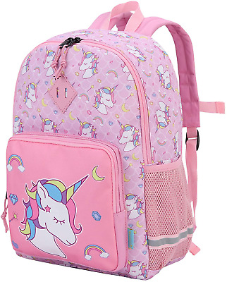AU61.13 • Buy Unicorn Pink Backpack Cute Lightweight Rainbow Backpack For Girls, Outdoor Bag