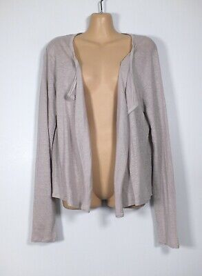 £2.99 • Buy THE WHITE COMPANY Pinky-grey Fine-knit Linen Open-front Tunic Cardigan, L/14-16