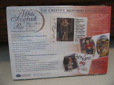 £4.36 • Buy Creative Memories Collection 5x7 10 Sheets White Pages Refill NEW (2000)