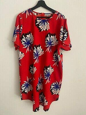 AU14 • Buy Asos Alice And You Red Shift Dress Size 22