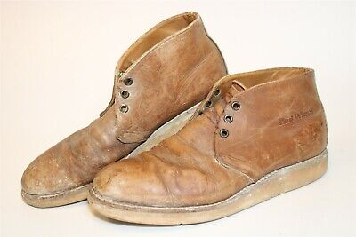 $6 • Buy DISTRESSED Red Wing Shoes USA Made Mens 9.5 B Traction Tred Leather Boots 595