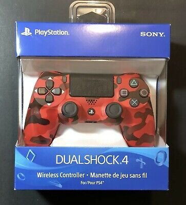 AU61.15 • Buy Dualshock 4 Wireless PS4 Controller: Red Camo - Sony PlayStation 4