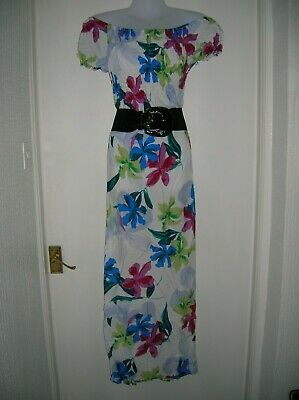 £8.99 • Buy Nwt Ladies 12 14 M/l Maxi Dress Summer Holiday Beach Cruise Party Night Out Work