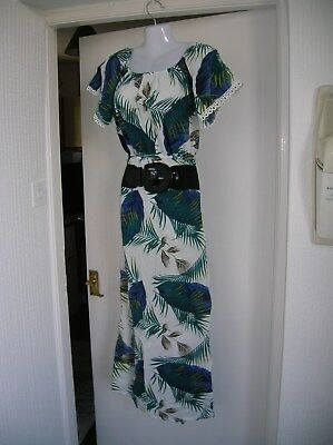 £7.95 • Buy New W/t Ladies 10 12 M/l Summer Maxi Dress Holiday Cruise Party Nights Out Work