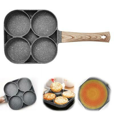 £9.99 • Buy 4 Cup Fried Egg Pan Omelette Cookware Non-stick Pancake Frying Pan For Cooking