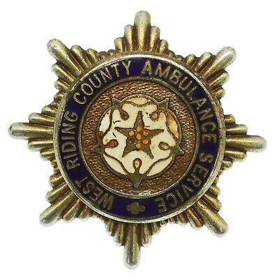 £4 • Buy Obsolete West Riding County Ambulance Service Cap Badge #49