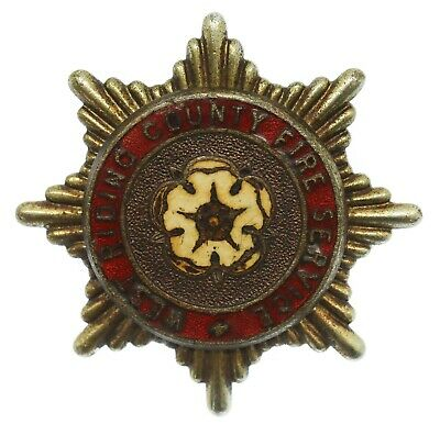 £4 • Buy Obsolete West Riding County Fire Service Enamelled Cap Badge #51