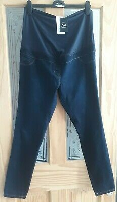 £12.99 • Buy BNWT Next Blue Over The Bump Maternity Skinny Jeans/Jeggings - Size 14