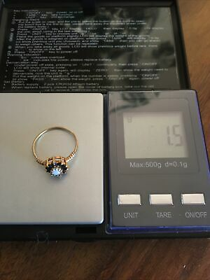 £53 • Buy 9ct Gold Scrap Or Wear Opal And Sapphire Ring Hallmarked