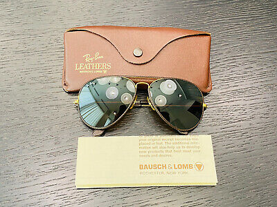 AU23.36 • Buy Vintage Ray-Ban Aviator Leather Series Bausch& Lomb Sunglasses B15 Mirrored 62mm