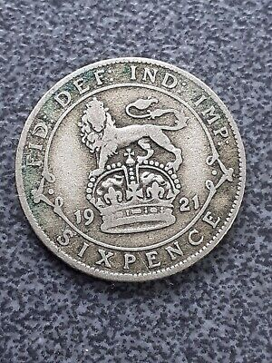 £0.99 • Buy 1921   George V  Silver Sixpence -