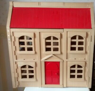 £37.50 • Buy Wooden DOLLS HOUSE  3 Storey...with Bunnies And Hedgehogs Residents.  1/12 Scale