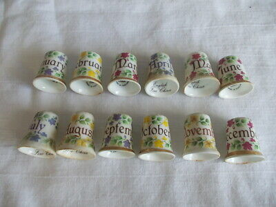 £2.99 • Buy Months Of The Year - Thimble 12 Set China Collection