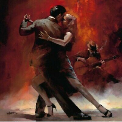 £19.99 • Buy TANGO COUPLE DANCING DECOR LARGE WALL ART CANVAS PICTURE 20x30INCH