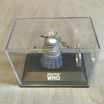 £9.99 • Buy Dr Doctor Who Silver And Blue Dalek Die Cast Keyring New In Plastic Case M&S
