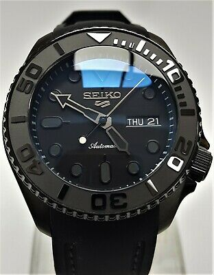 $ CDN174.84 • Buy SKX007 Divers Watch Seiko SII NH36 Hack Movement D-Dome Ceramic PVD *STEALTH Mod