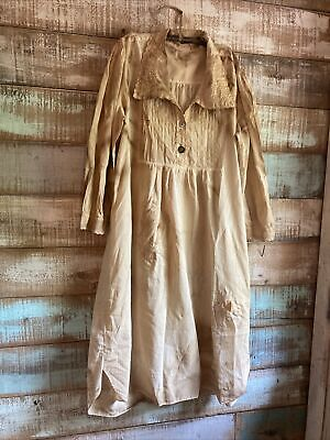$ CDN23.92 • Buy Primitive Peg Dress Nightgown With Repairs And Aged