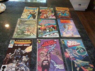 $6.99 • Buy Magnus Robot Fighter - Flash Gordon - Buck Rogers - Lot Of 9 - Sci Fi And More