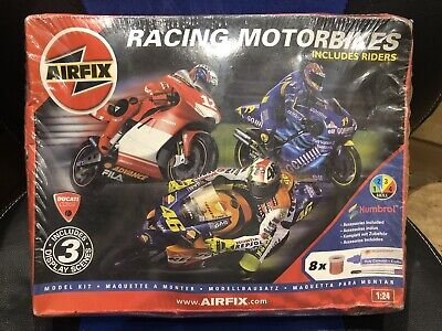 £49.95 • Buy Airfix Racing Motorbikes With Riders 1:24 Scale Plastic Kit Paints Cement 10404