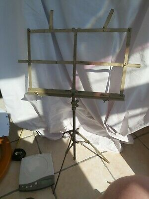 £3.99 • Buy Vintage 1960s (?) Deans Brass Folding Music Stand In VGC