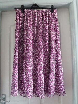 £22 • Buy Nwt  Jacques Vert Gorgeous Printed Chiffon Skirt With Lining 14