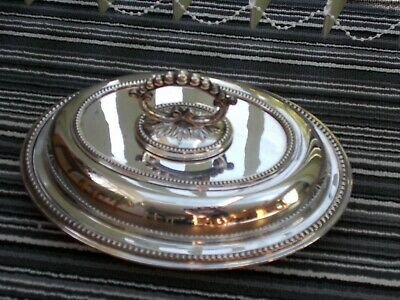 £30 • Buy Antique Silver Plated Entree Dish /Covered Vegetable DishJ.B. CHATTERLEY & SONS