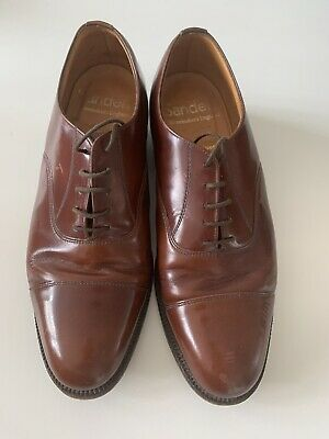 £14.99 • Buy Sanders Brown Leather Oxford Lace Up Shoes Size 9