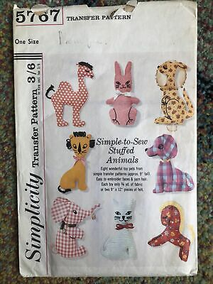 £9 • Buy Vintage Simplicity 5767 Like 7744 70's Toy Doll Animals Transfer Pattern