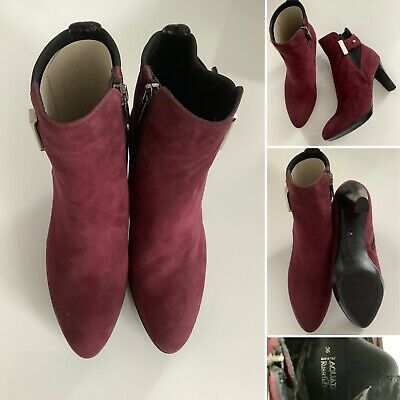 £30 • Buy BNWT - Aquatalia For Russell & Bromley Burgundy Suede Ankle Boots - Sz 36/3