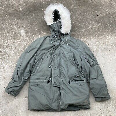 $60 • Buy Men's Military Extreme Cold Weather Type N3B Parka Jacket Alpha Industries Large