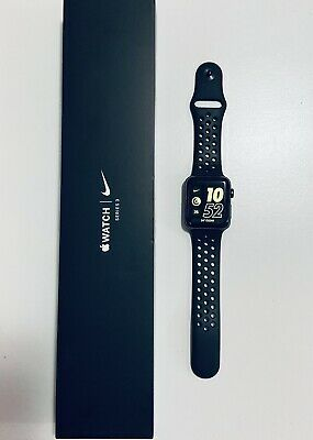 $ CDN175 • Buy Apple® Watch Nike+ Series 3 38mm Space Grey Case W/ Anthracite Black Band Clean.