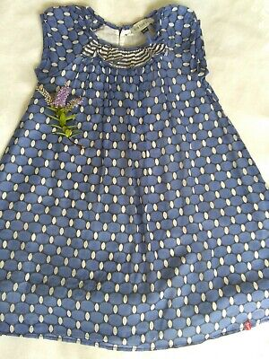 £4.20 • Buy Girl's Jean Bourget Summer Dress Age 4 Cotton Lawn Lined Blue Nautical Boutique