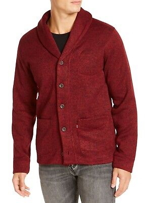 $21.99 • Buy Levi's Mens Sweater Heather Red Size Large L Button Down Shawl Cardigan $74 249