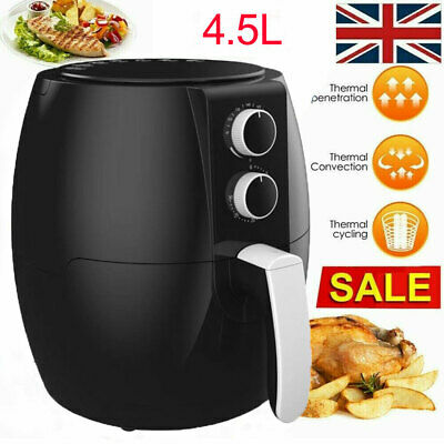 View Details 4.5L Adjusatble Air Fryer Frying Cooker Low Fat Oil Free Kitchen Oven 1350W New • 38.99£