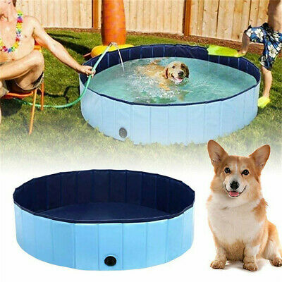 £1.99 • Buy Summer Blue Cool Large Dog Puppy Pool Indoor Outdoor Pet Bath Water Tub Dia 120c