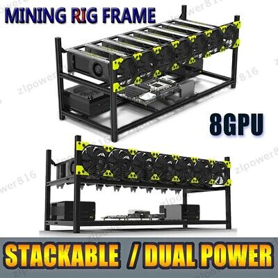 AU295.99 • Buy Veddha 8 GPU Stackable Open Air Mining Rig Frame Case Computer Ethereum Chassis