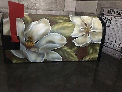 $13.99 • Buy MAGNETIC MAILBOX COVER (MAGNOLIAS) FLAGTRENDS By CARSON. W/FACEPLATE