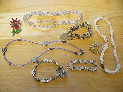 $ CDN13.85 • Buy Costume Jewelry - Lot Of 8 - 1960's/70's - Necklaces, Bracelets & Pins - NICE