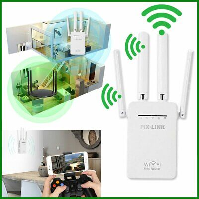 £15.99 • Buy WiFi Extender Signal Booster Fast Speed WiFi Repeater Router 4 External Antennas