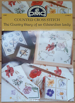 £2 • Buy DMC - The Country Diary Of An Edwardian Lady Cross Stitch -  P5061 - 9 Designs