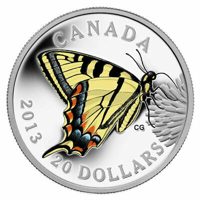 $60.04 • Buy  Butterflies Of Canada: Tiger Swallowtail - 2013 $20 Fine Silver Coin
