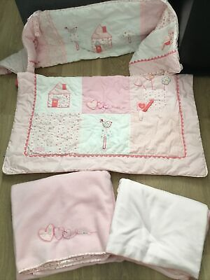 £8 • Buy Pink Bruin Nursery Cot Bedding Set With Duvet, 2 Blankets And Bumper.