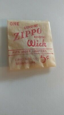 $2 • Buy 1940s Zippo Replacement Wick .05 Cents In Original Packaging Envelope