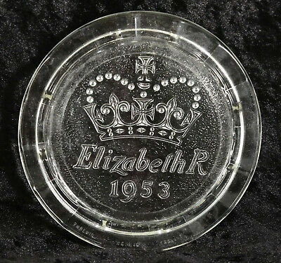 £2 • Buy Elizabeth R 1953 Glass Trivet Stand 6 Inches Across Collectable Royal
