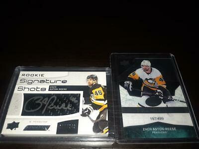 $ CDN13.99 • Buy 18-19 Zach Aston-reese Rc Lot,ud Engrained Signature Shots Auto + Ice Premieres