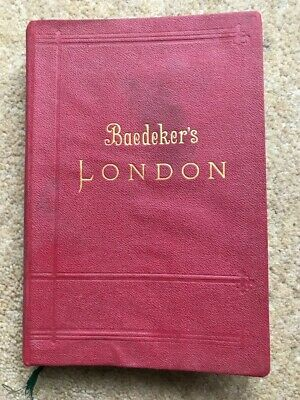 £15 • Buy Baedeker's London 1901 ~~ Maps & Plans Including Railway Map Of England & Wales