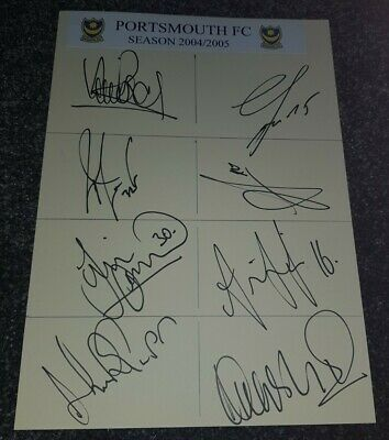 £7.99 • Buy Portsmouth Fc 2004/5 Squad Hand Signed A4 Card