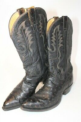$5.50 • Buy Justin Mens 10.5 E Wide Leather Full Quill Ostrich USA Made Cowboy Boots D1061