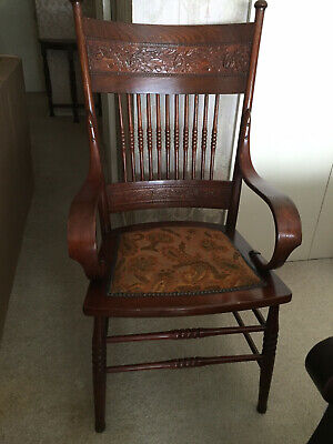 AU200 • Buy Antique Wooden Carved Chair - Pre Owned