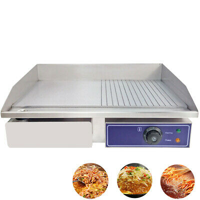 £119 • Buy Commercial Electric Griddle Hotplate BBQ Grill Teppanyaki Egg Fryer Countertop